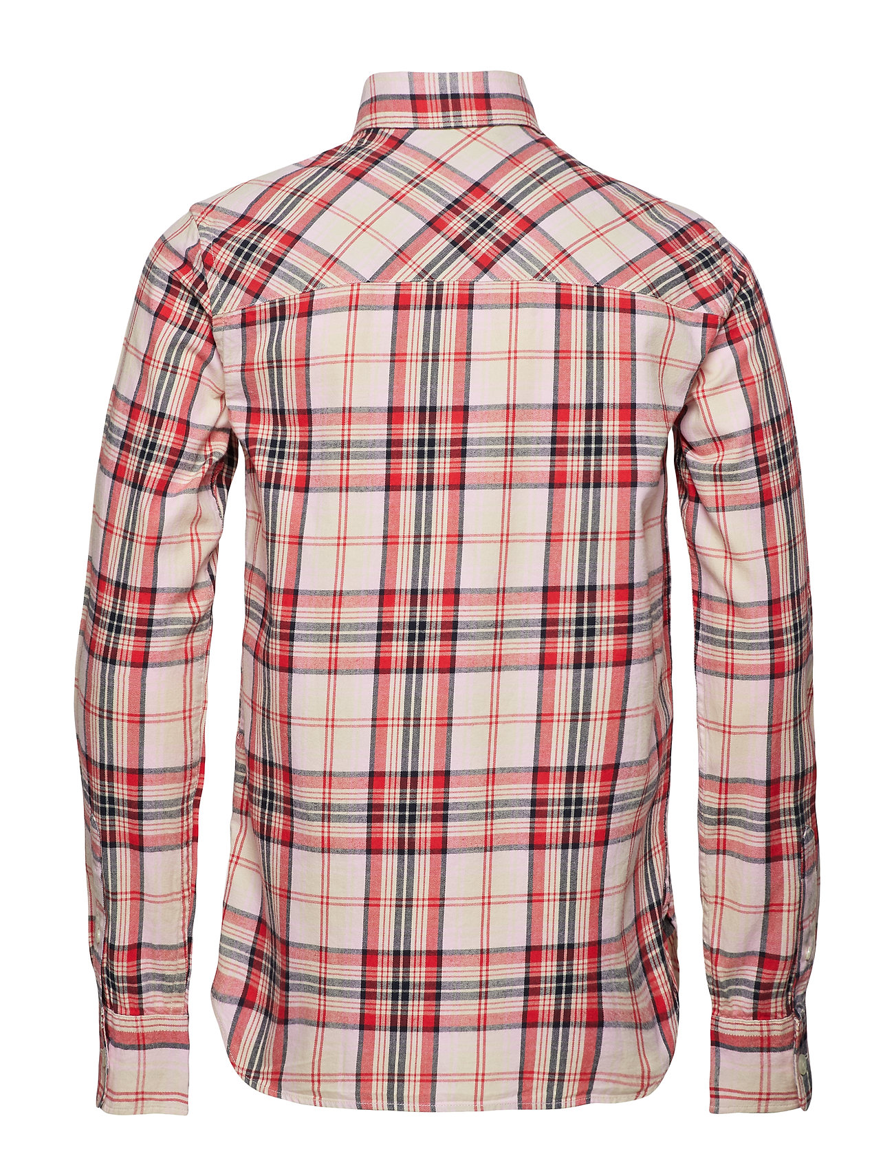 CScotchamp; Shirtcombo Checked Blauw Ams Soda Brushed Cotton Yb7y6fg