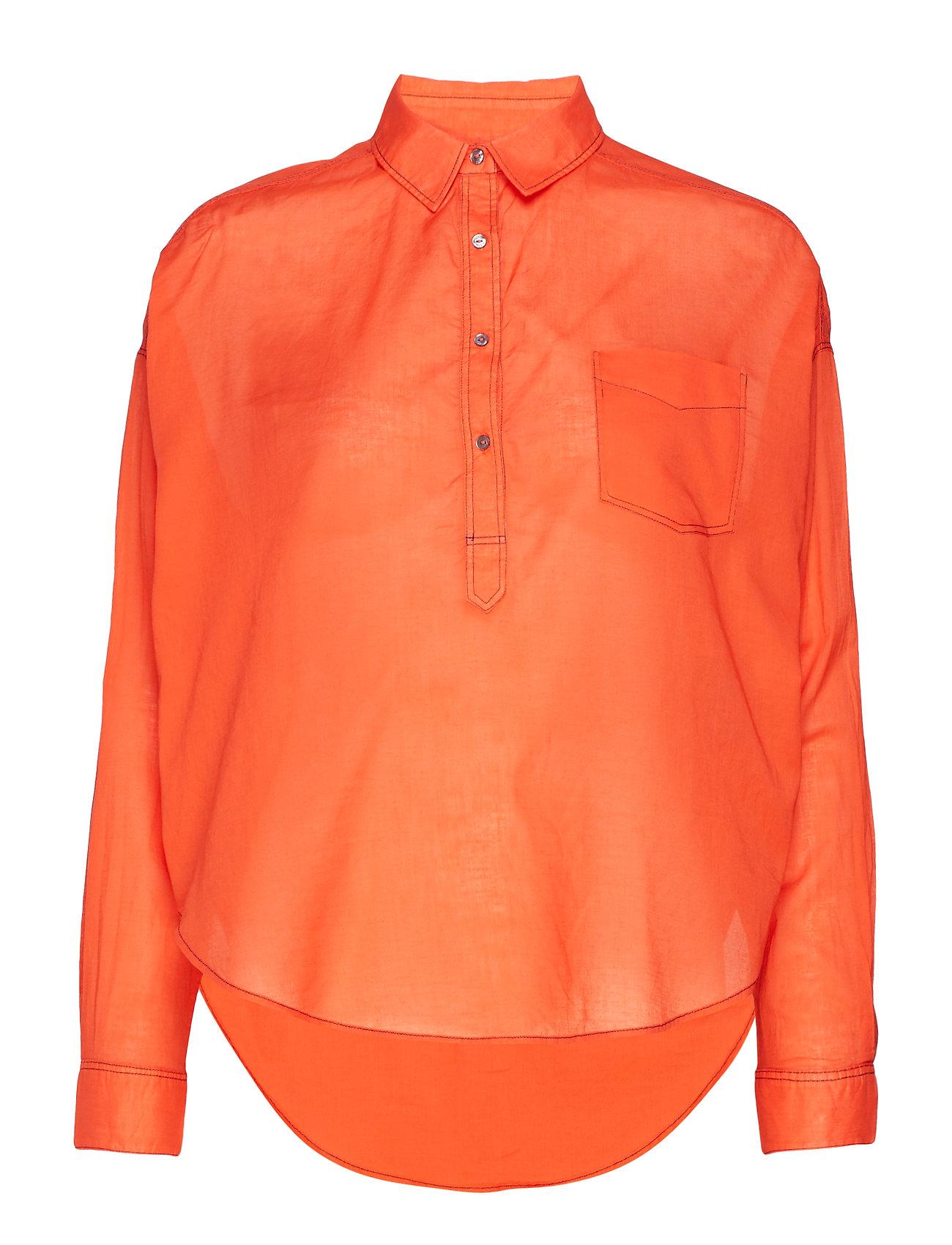 Scotch & Soda Light weight cotton shirt - SUNSET ORANGE
