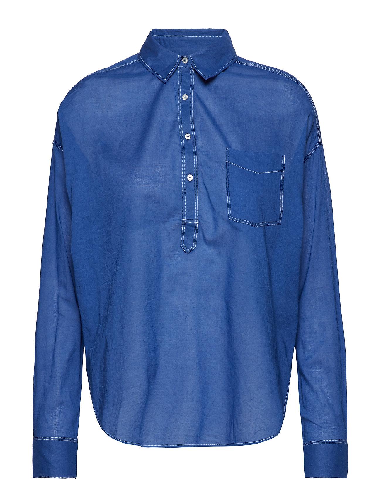 Scotch & Soda Light weight cotton shirt - YINMIN BLUE