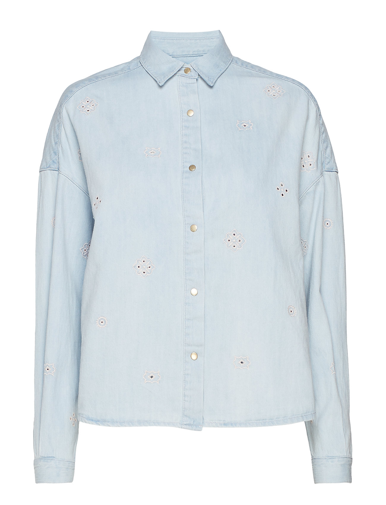 Scotch & Soda Boxy western shirt - INDIGO