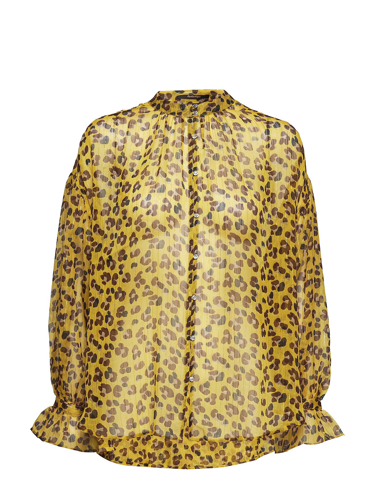Scotch & Soda Voluminous sheer printed blouse with lurex - COMBO A