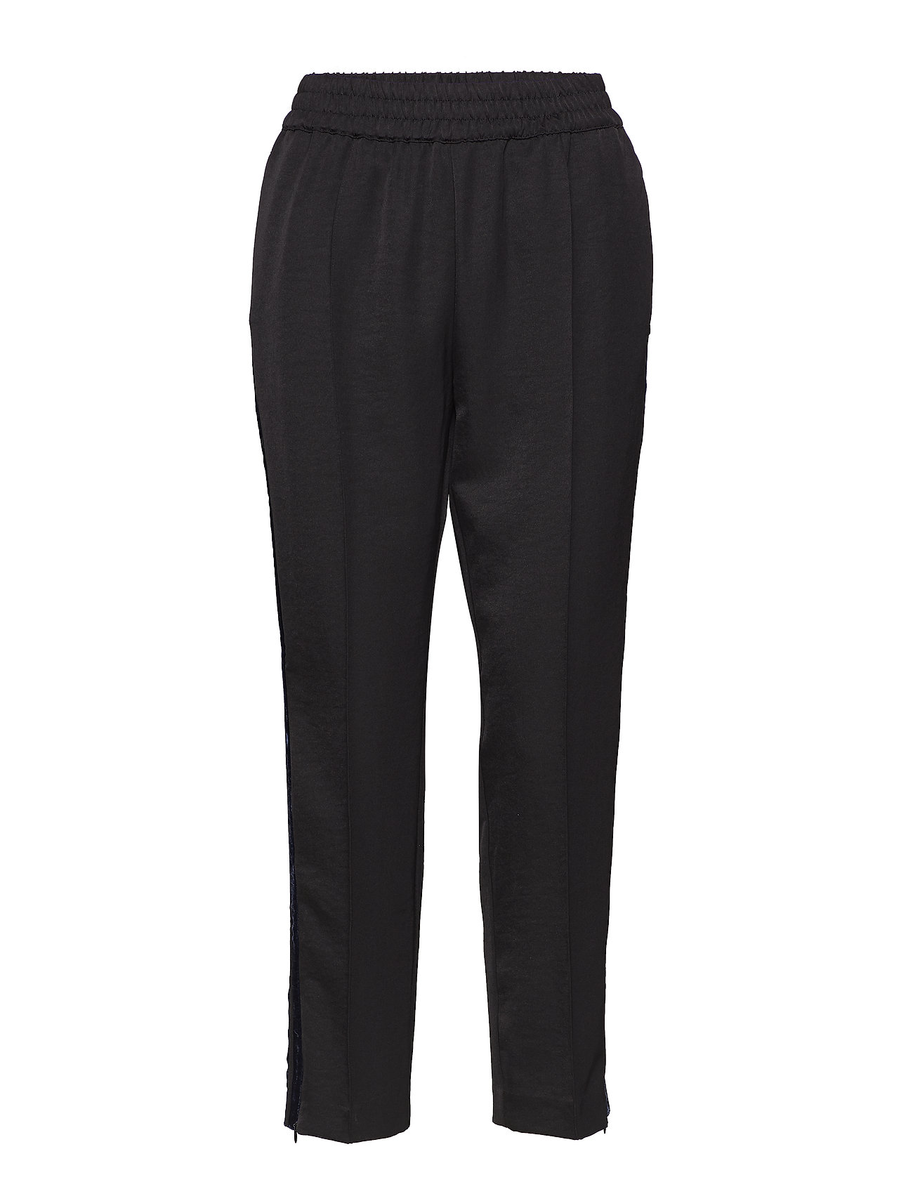 Scotch & Soda Tailored pants with velvet side tapes - BLACK