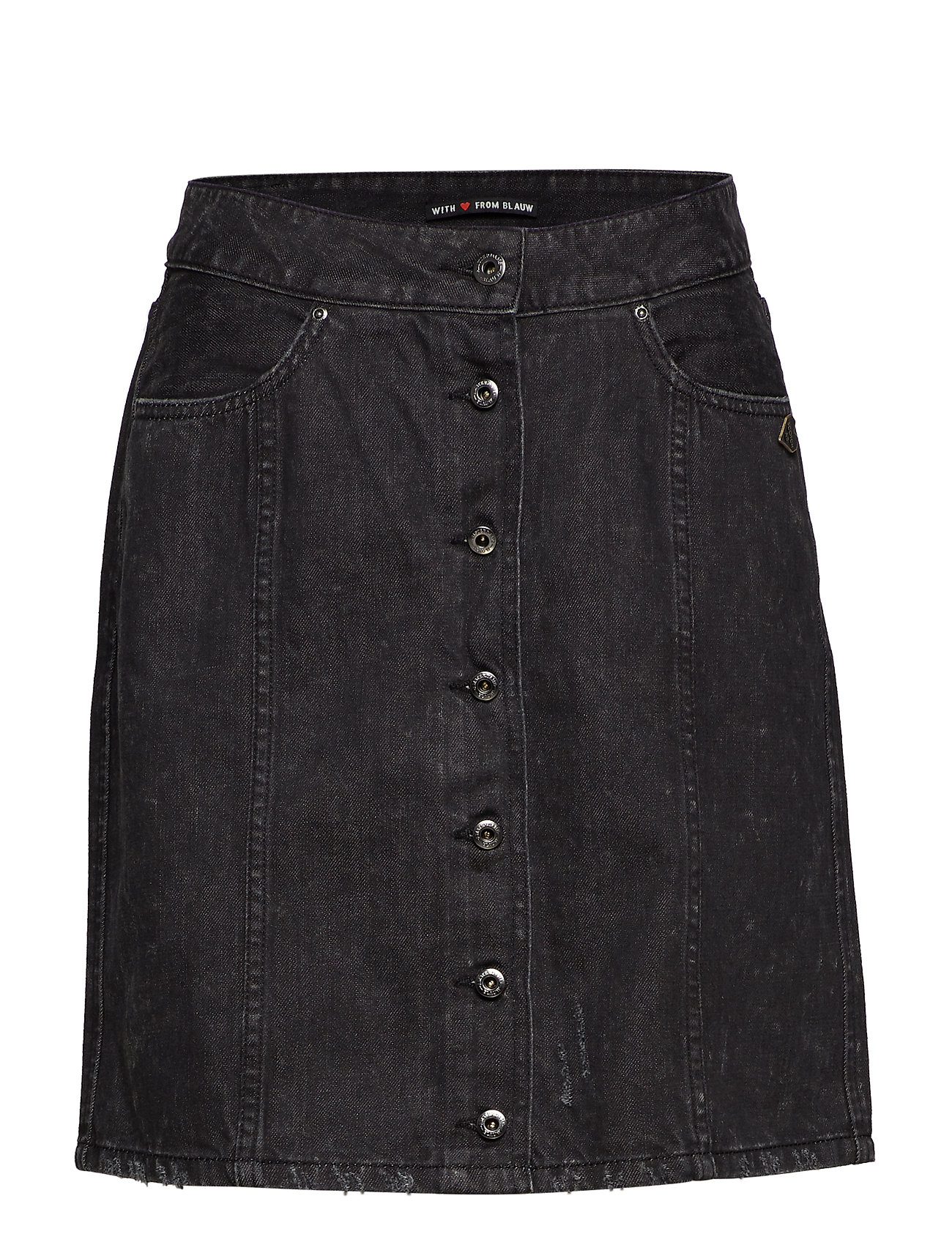 SCOTCH & SODA Black Denim Pencil Skirt Kurzes Kleid Schwarz SCOTCH & SODA