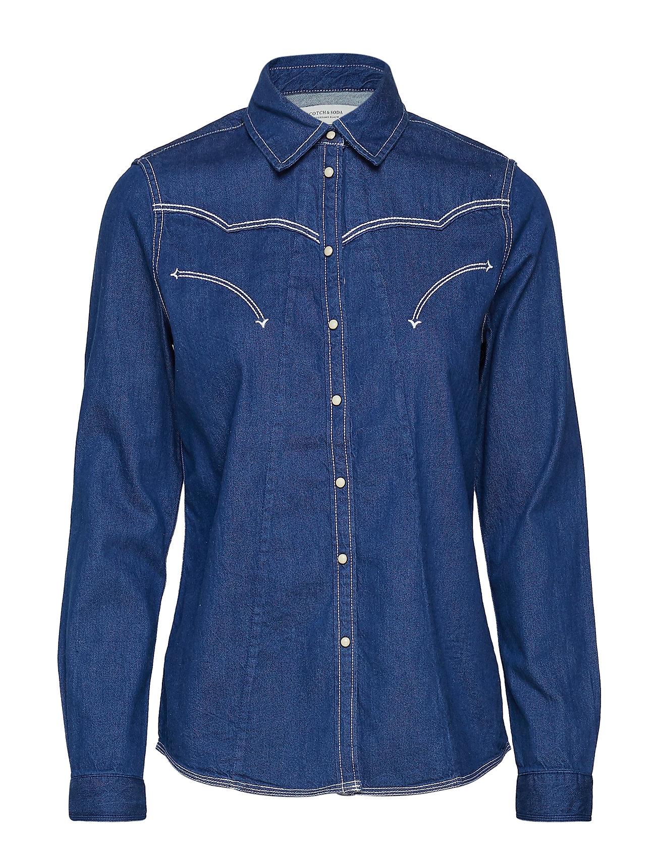 Scotch & Soda A-shape western shirt - INDIGO