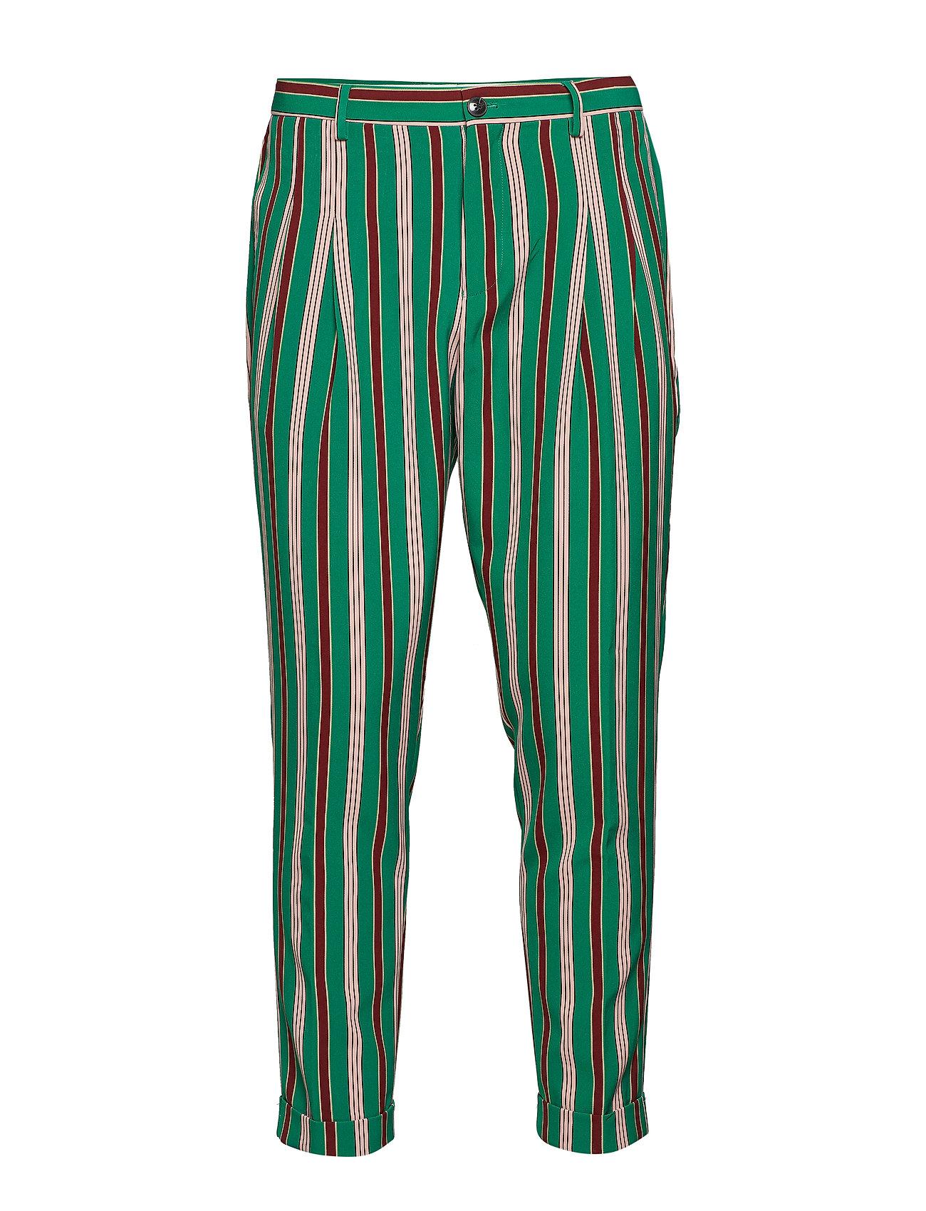 SCOTCH & SODA Twilt - Pleated Chino In Bright Printed Stripe Pattern