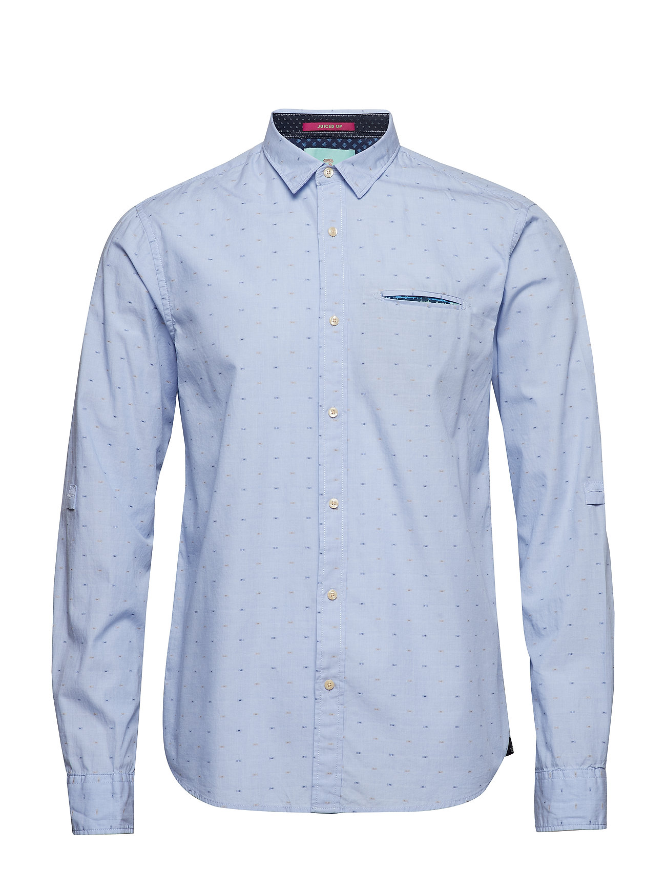 Scotch /& Soda Mens Regular Fit-Shirt with Sleeve Collectors and Fixed Pochet Casual