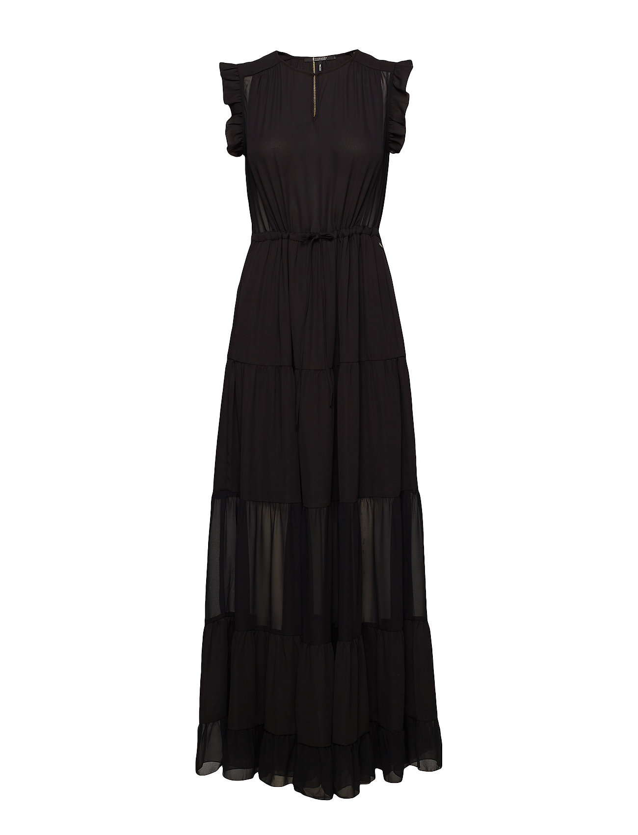 Scotch & Soda Tiered maxi dress with sheer inserts