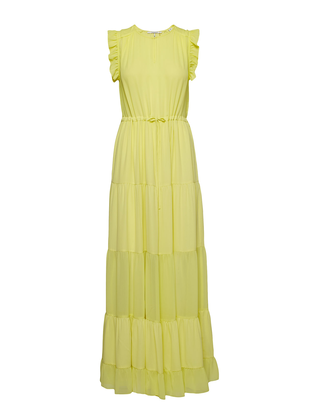 Scotch & Soda Tiered maxi dress with sheer inserts - LIME