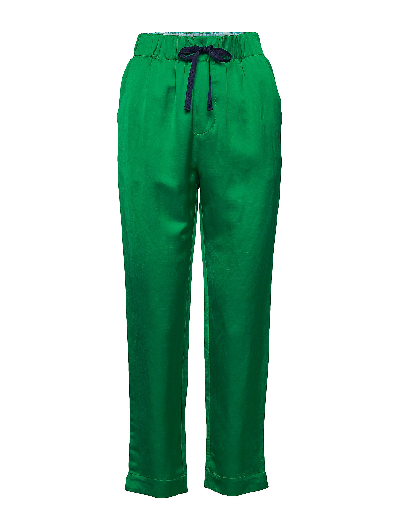 Scotch & Soda Tailored jogger pants in viscose-linen quality - PALM GREEN
