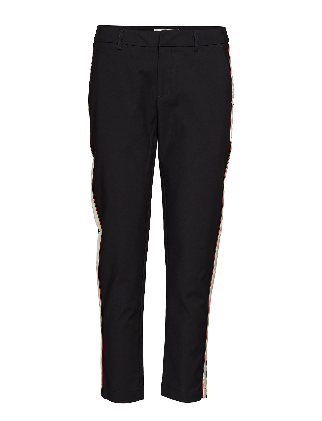 Scotch & Soda Tailored stretch pants with contrast side panel - BLACK