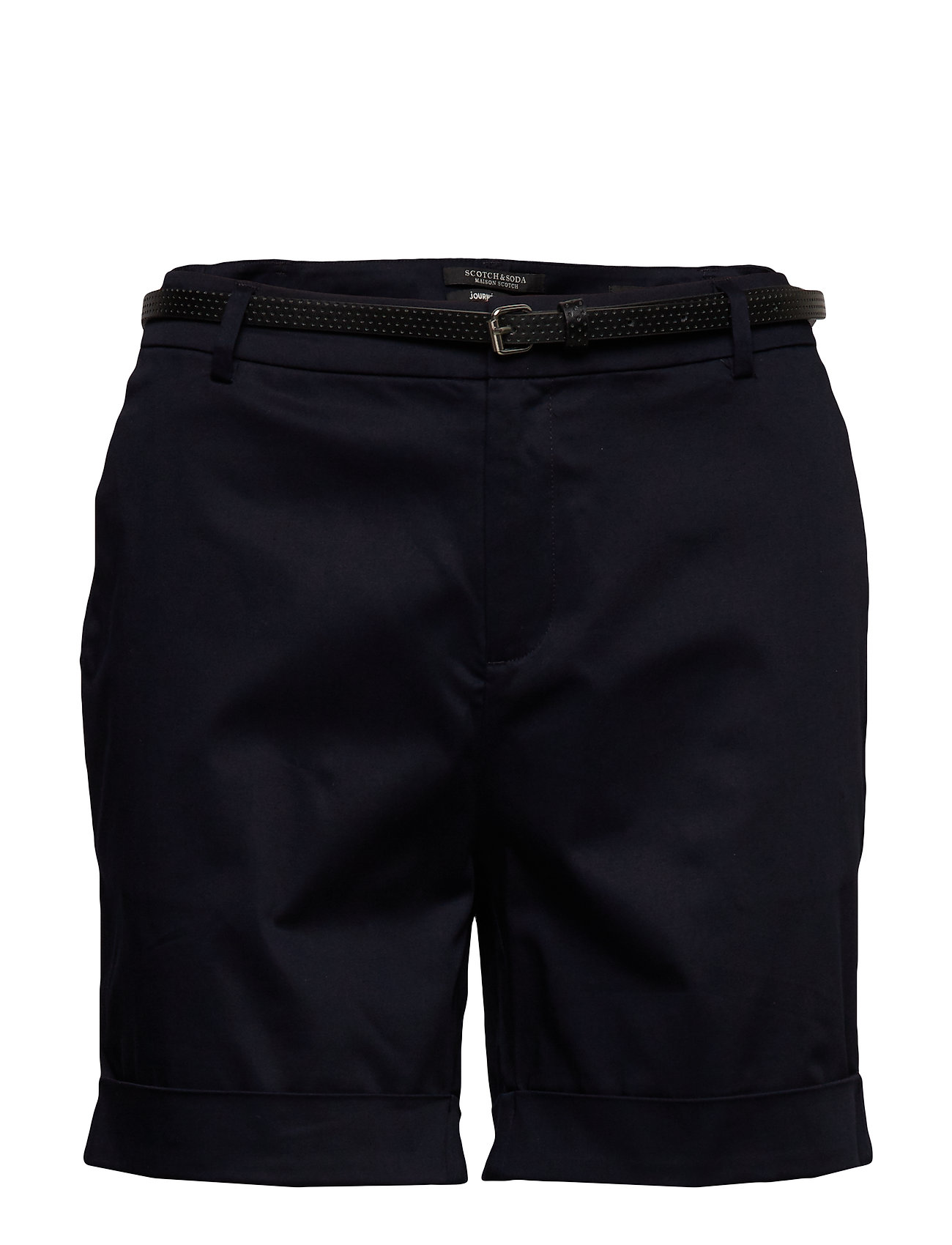 Scotch & Soda Longer length mercerised chino shorts, sold with a belt - NIGHT