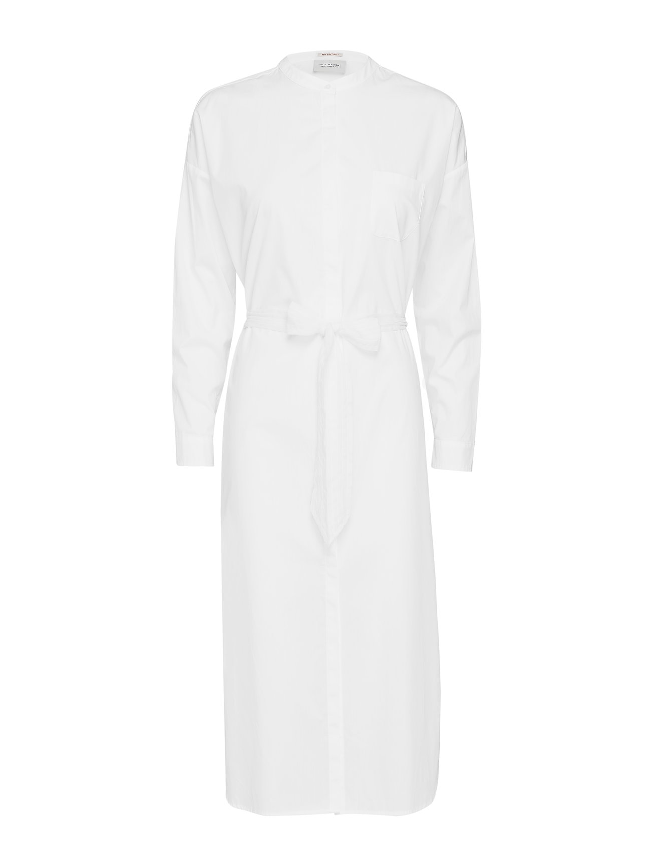 Scotch & Soda Longer length shirt dress - WHITE