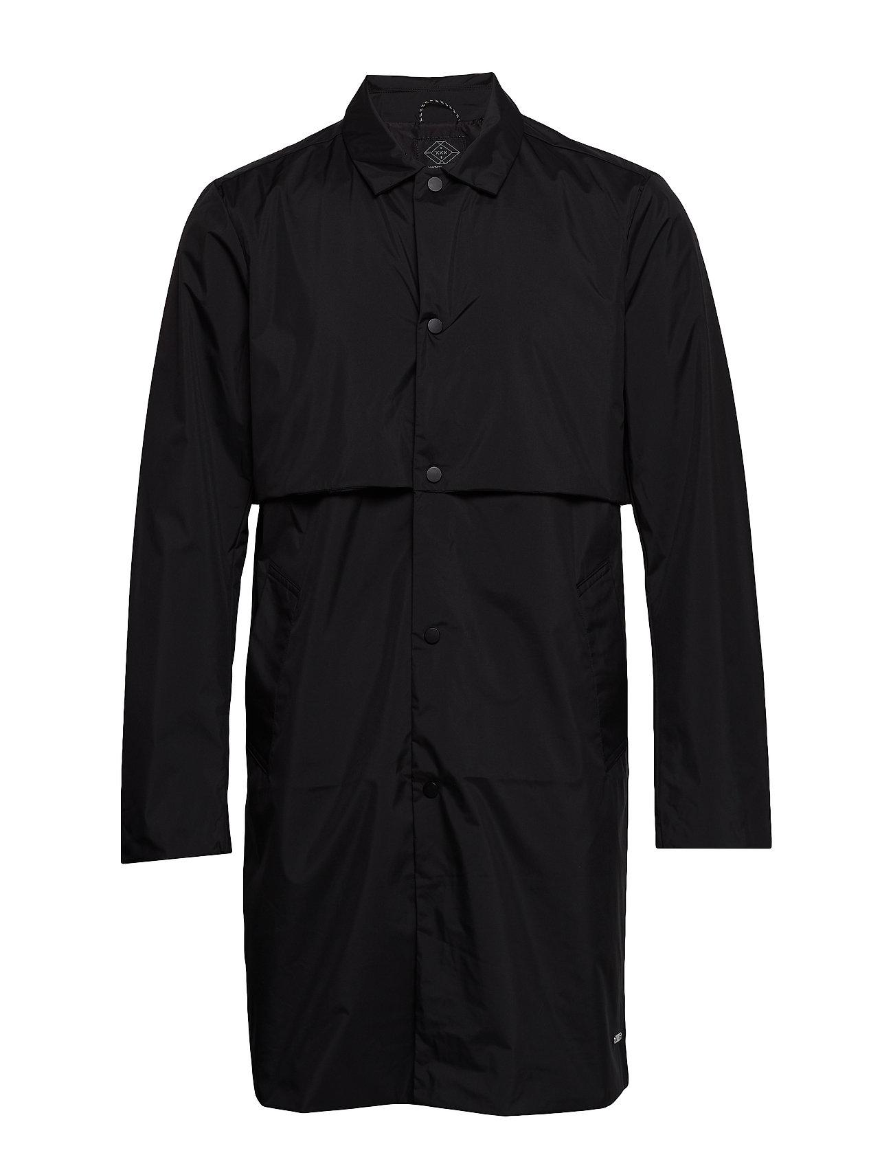 Image of Ams Blauw Clean Trenchcoat In Coated Quality Trenchcoat Frakke Sort Scotch & Soda (3195668863)