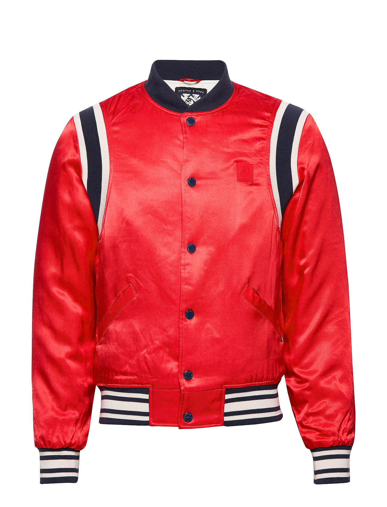 Scotch & Soda Brutus Ams Blauw colab bomber jacket - LIFEGUARD RED
