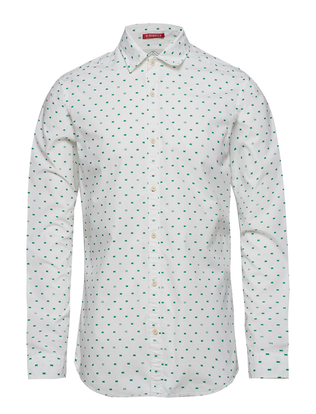 Scotch & Soda Slim fit crispy L/S shirt with prints - COMBO E
