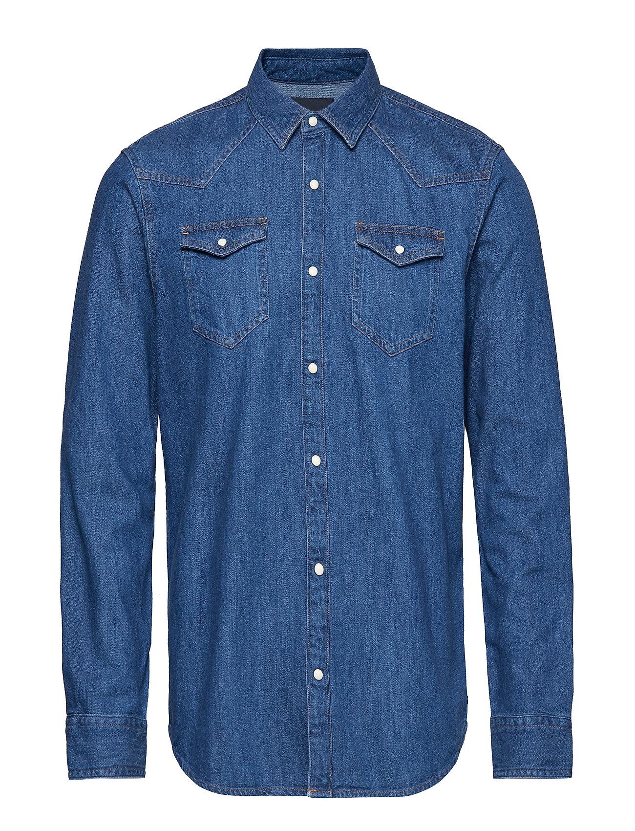 Scotch & Soda Ams Blauw denim shirt in seasonal washes - DENIM BLUE