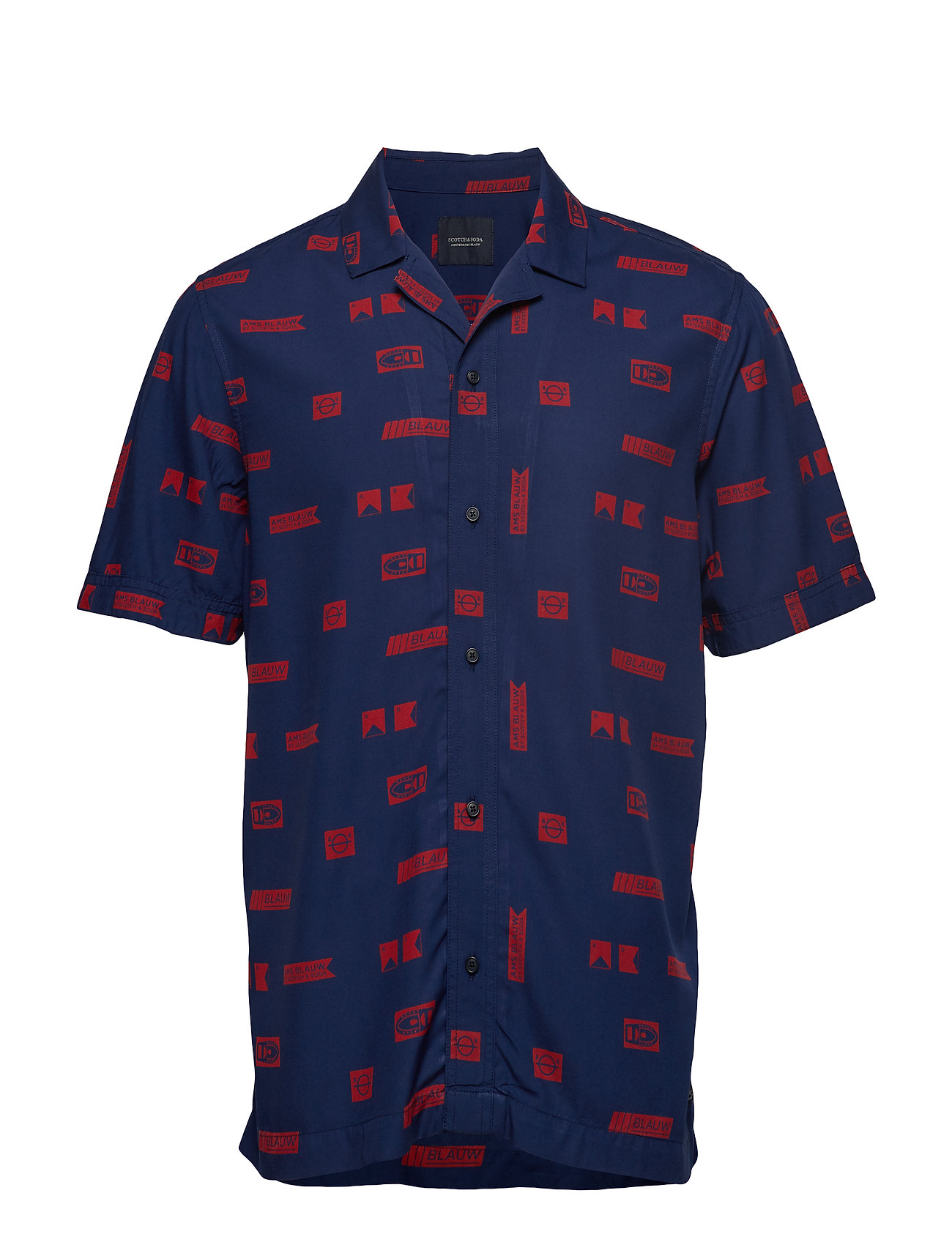 Scotch & Soda Short sleeve shirt with prints - COMBO C