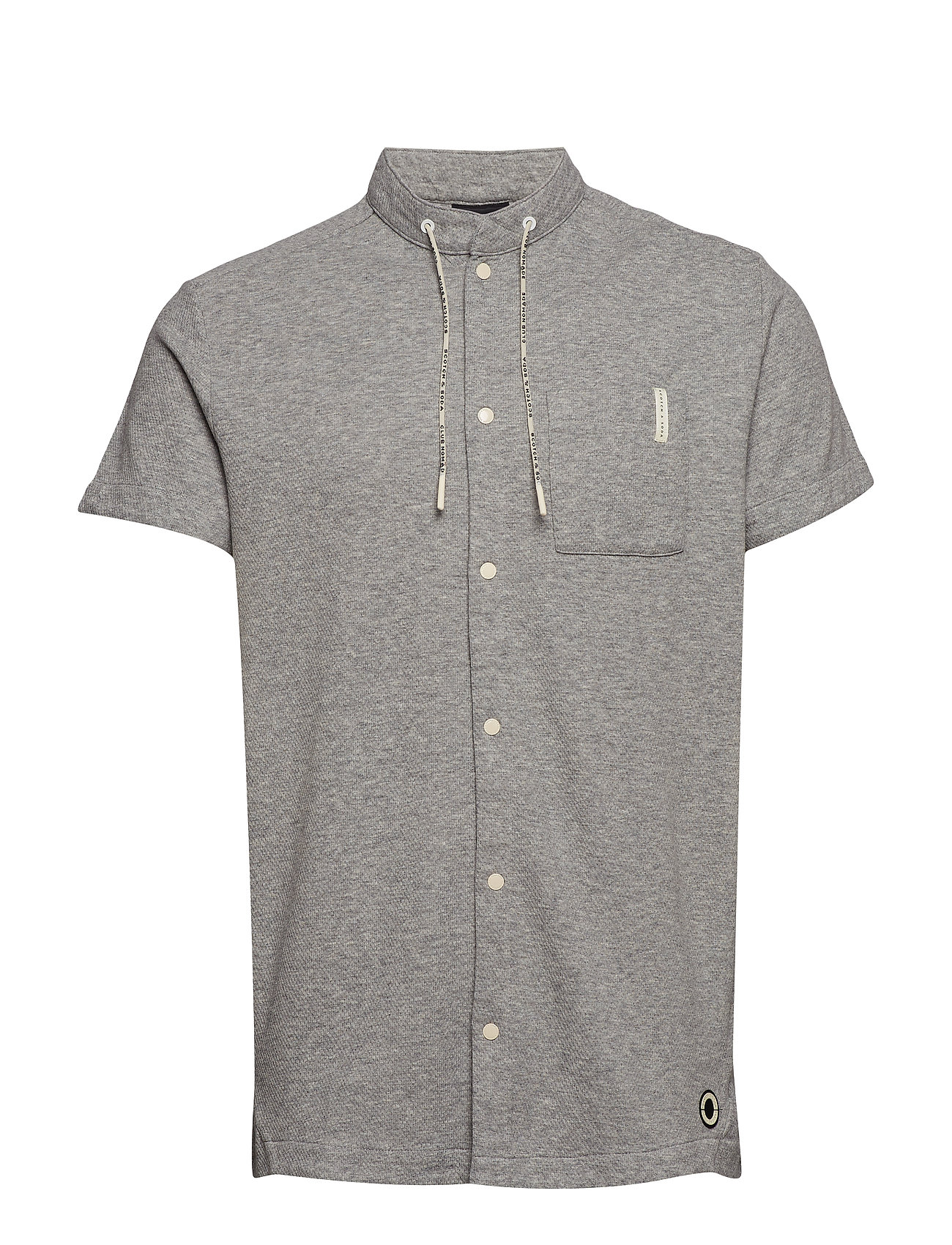 Scotch & Soda Club Nomade S/S shirt with technical details - GREY MELANGE