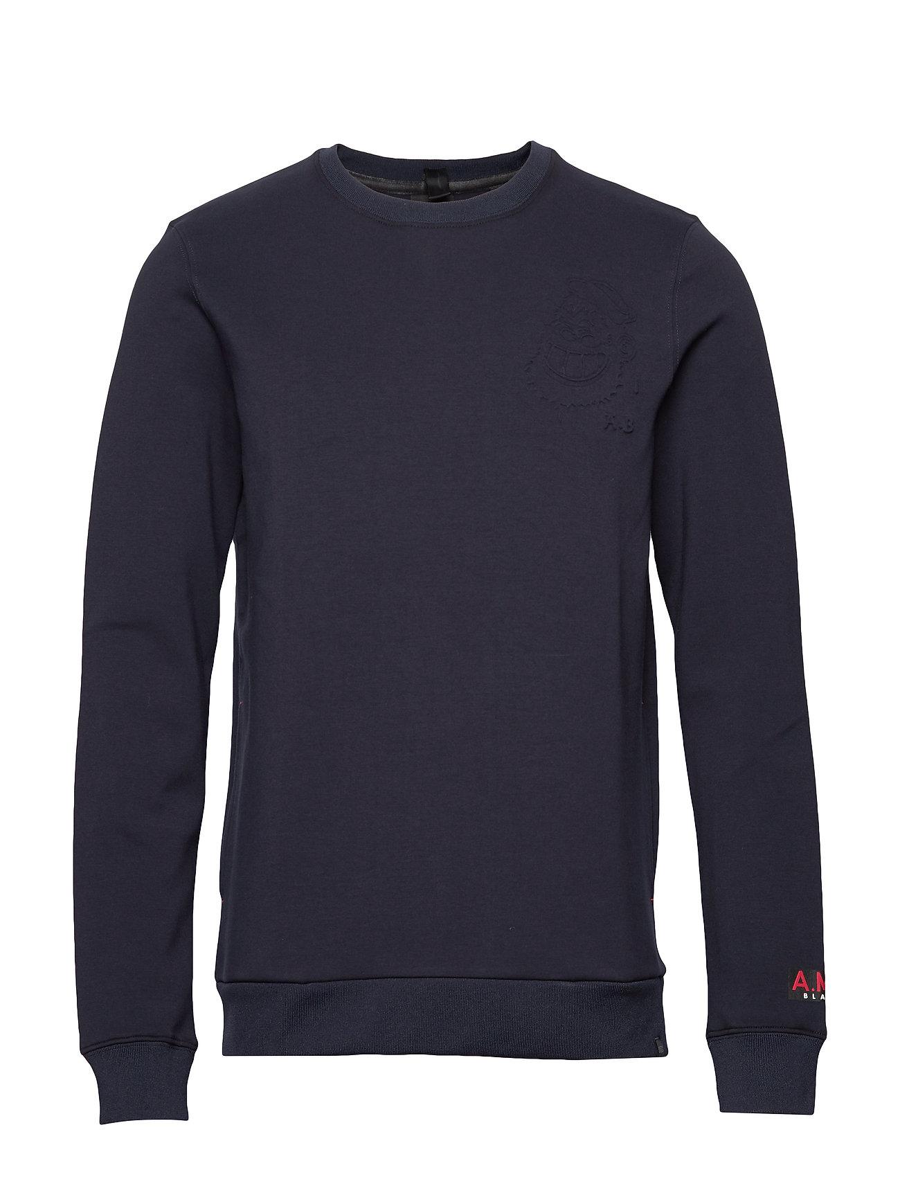 SCOTCH & SODA Sportunterteile | Brutus Ams Blauw Colab Sweat With Detachable Bandana Sweat-shirt Pullover Blau SCOTCH & SODA