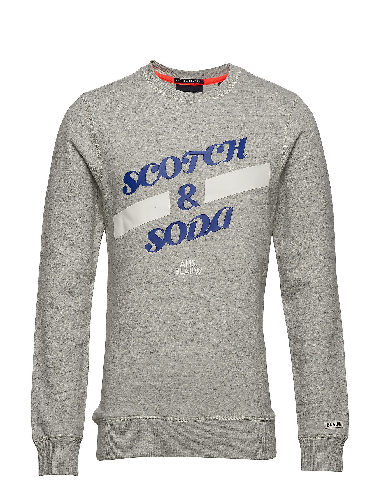 Scotch & Soda Basic Scotch & Soda sweat in regular fit - GREY MELANGE