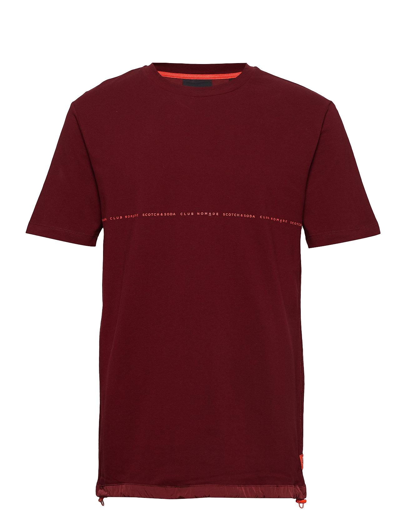 Scotch & Soda Club Nomade signature pique tee in oversize fit - NOMADE RED