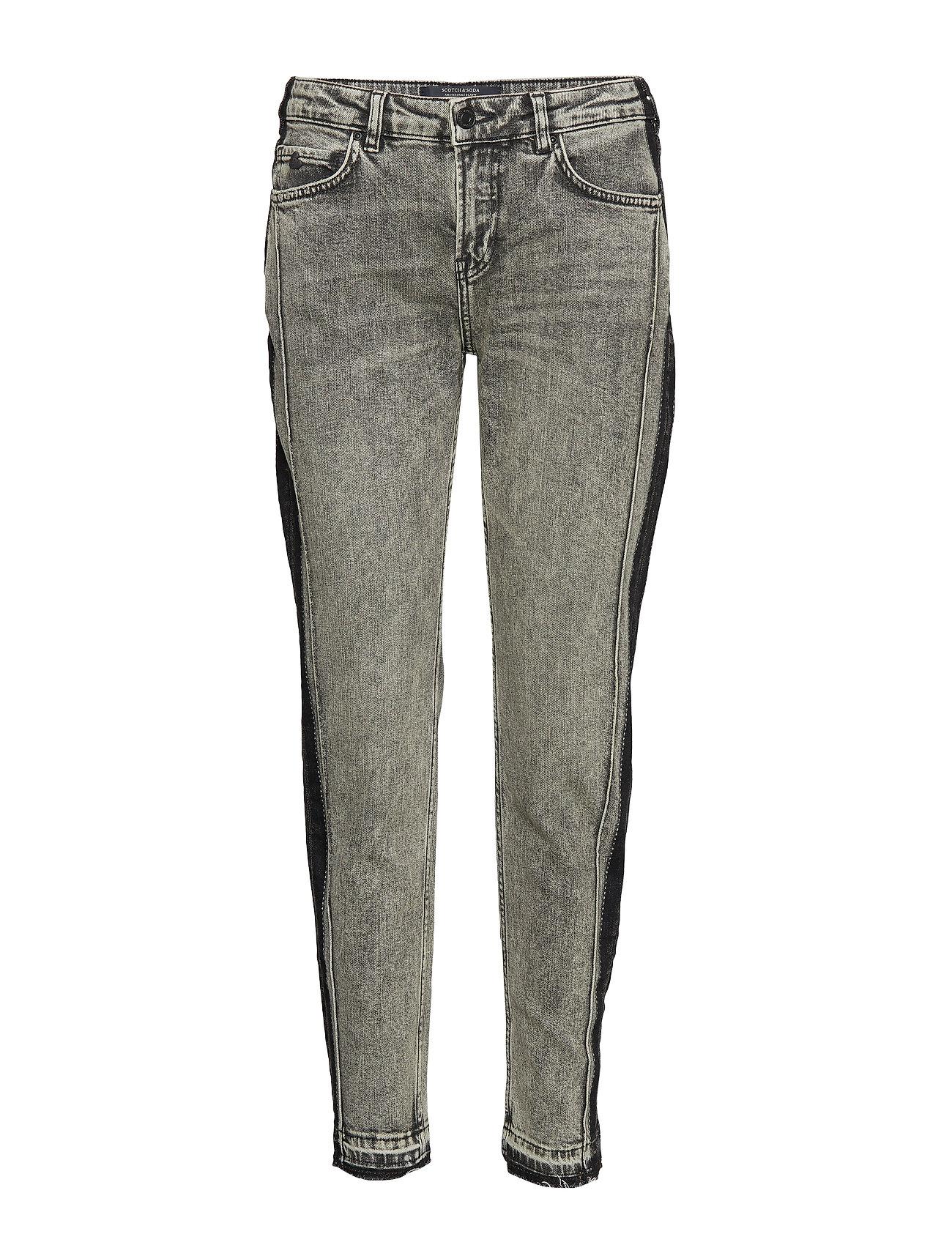 The Keeper - Customized Rock Straight Jeans Hose Mit Geradem Bein Grau SCOTCH & SODA