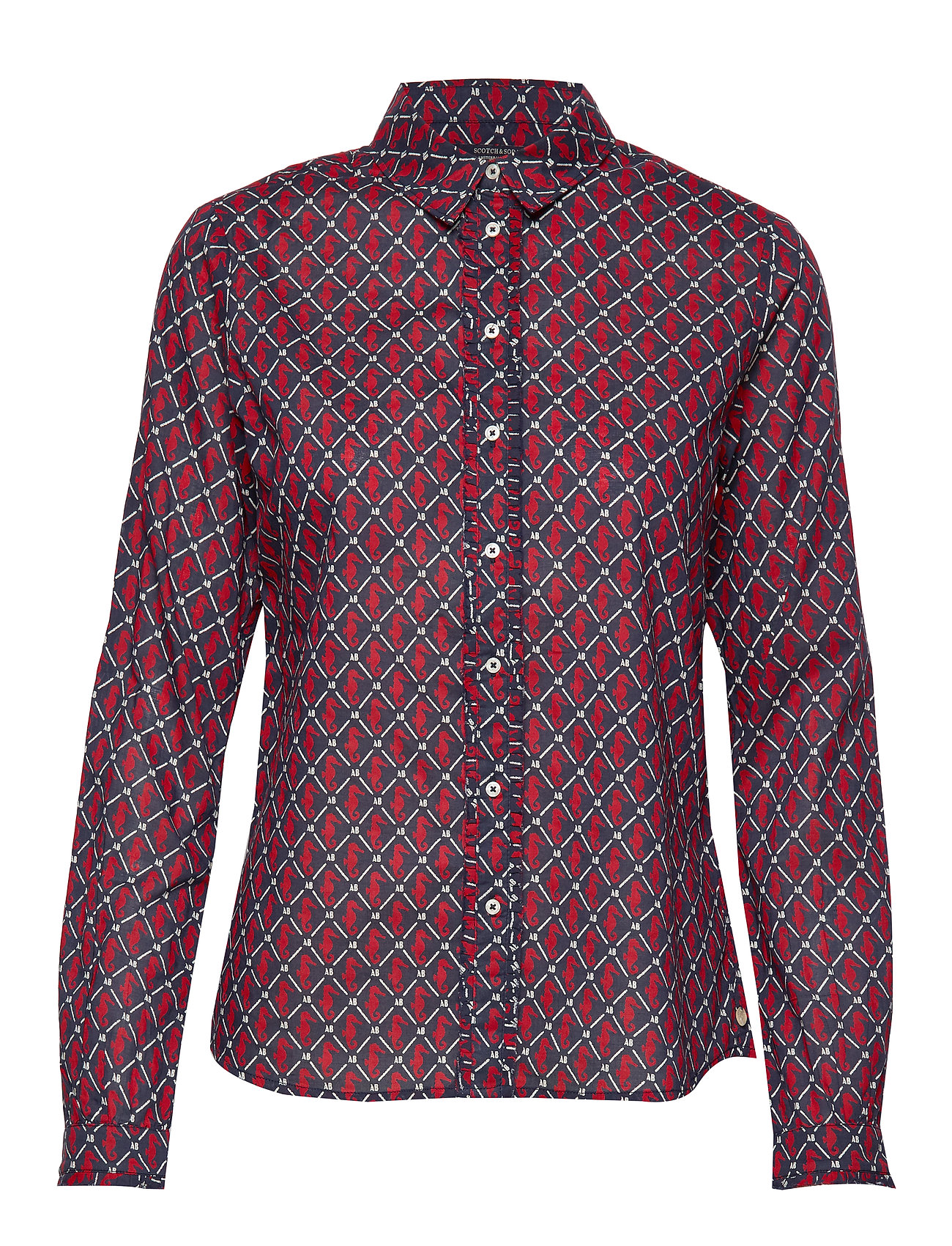 Scotch & Soda Classic long sleeve shirt with all over print - COMBO A
