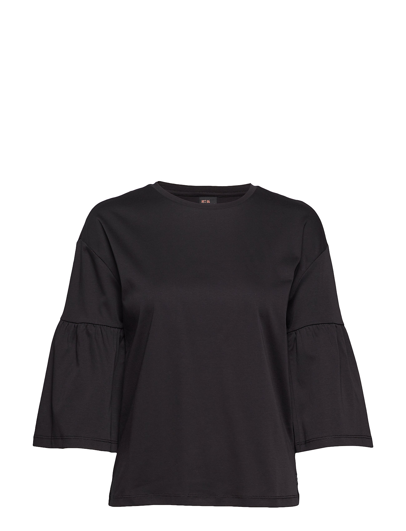 Scotch & Soda Clean tee with special sleeve - BLACK
