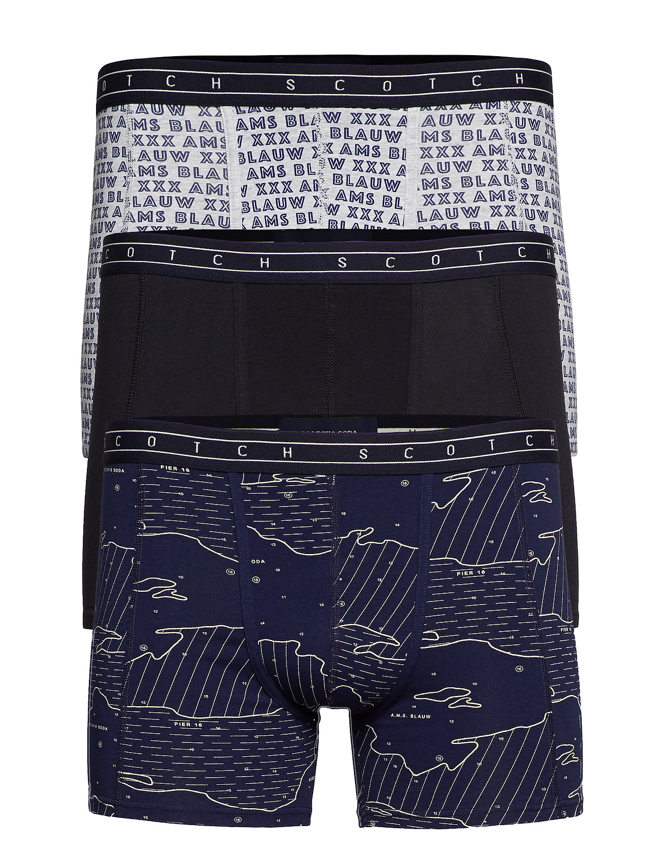 Scotch & Soda Boxer short 3 in 1 pack - COMBO A