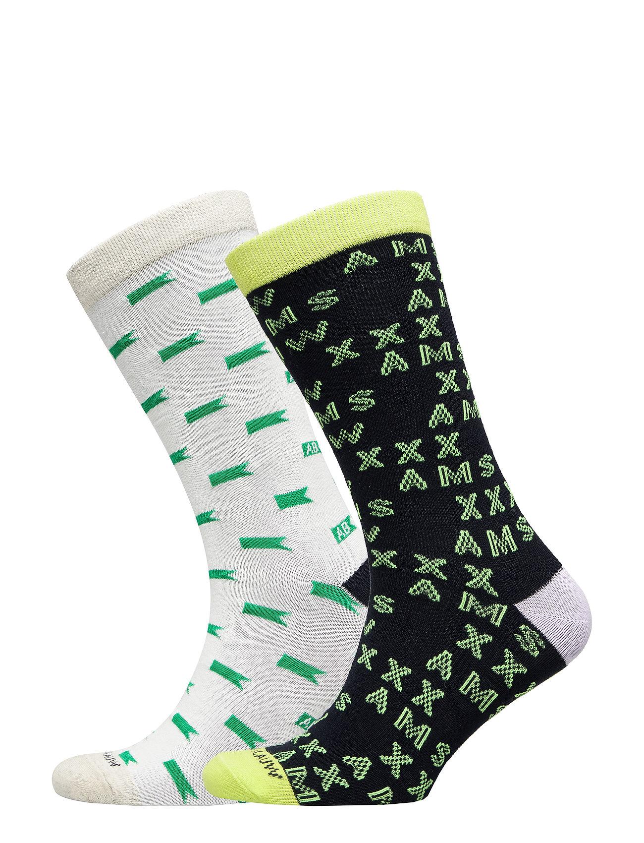 Image of Ams Blauw 2-Pack Seasonal Socks Underwear Socks Regular Socks Grøn Scotch & Soda (3275198783)