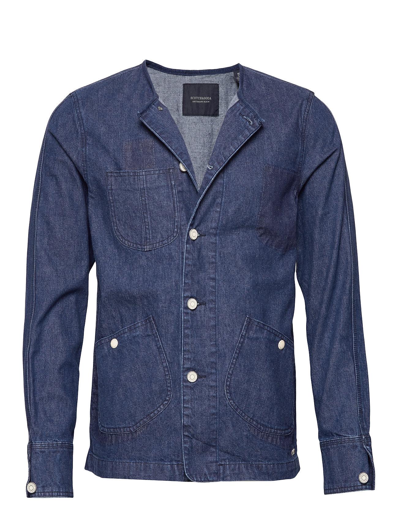 Scotch & Soda Ams Blauw matchy matchy tailored workwear jacket - INDIGO