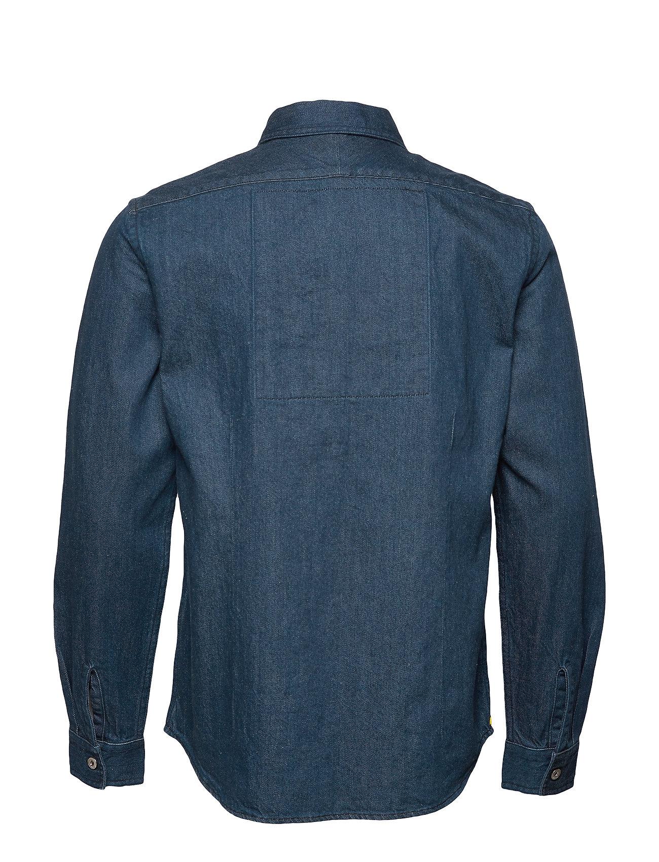 SCOTCH & SODA Hemden | Lot 22 Popover Denim Worker Shirt With Contrast Zipper Hemd Casual Blau SCOTCH & SODA