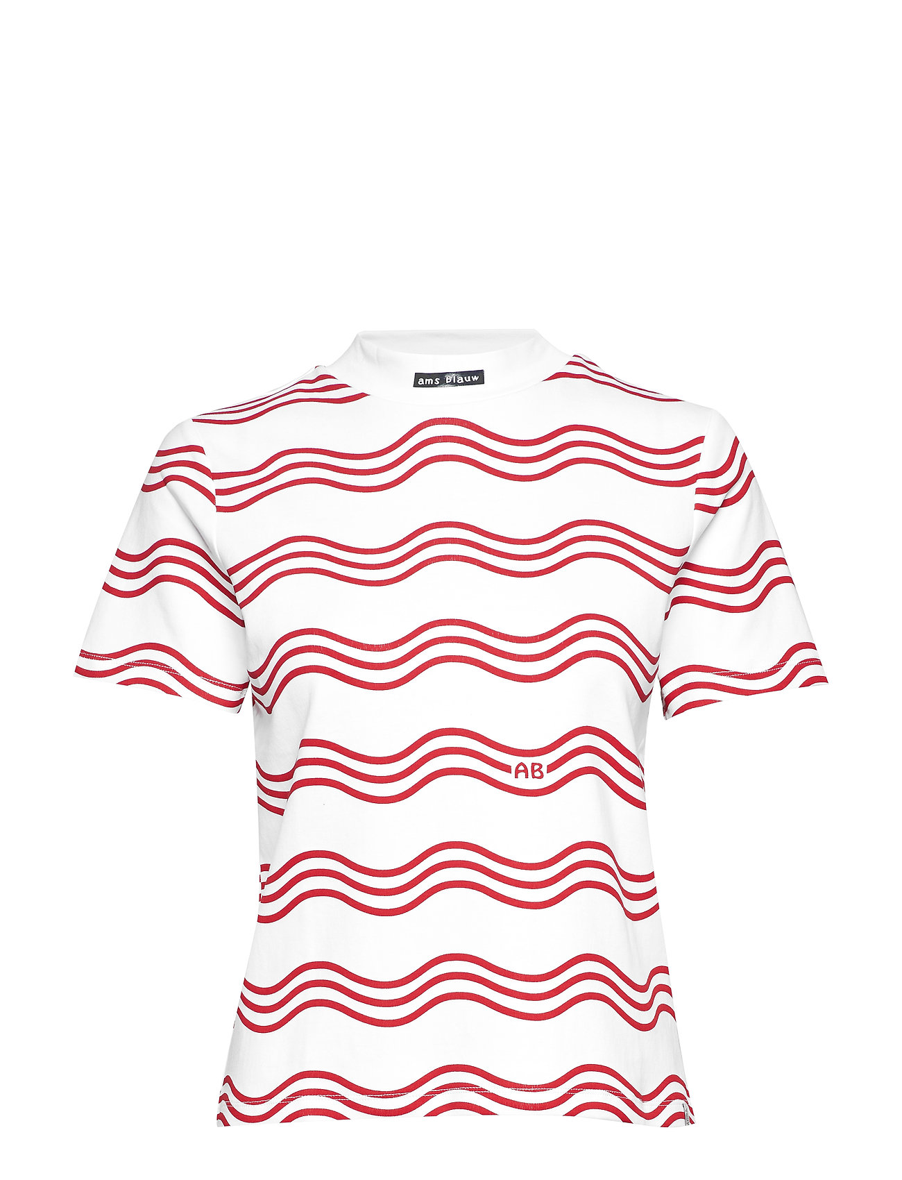 Scotch & Soda Clean tee with a high neck - COMBO A
