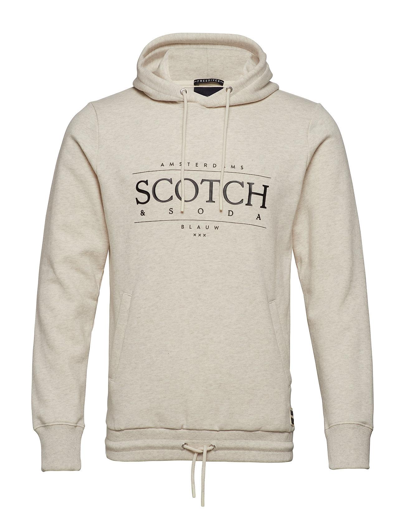 Scotch & Soda Sweat With Hood Hoodie Pullover Creme SCOTCH & SODA