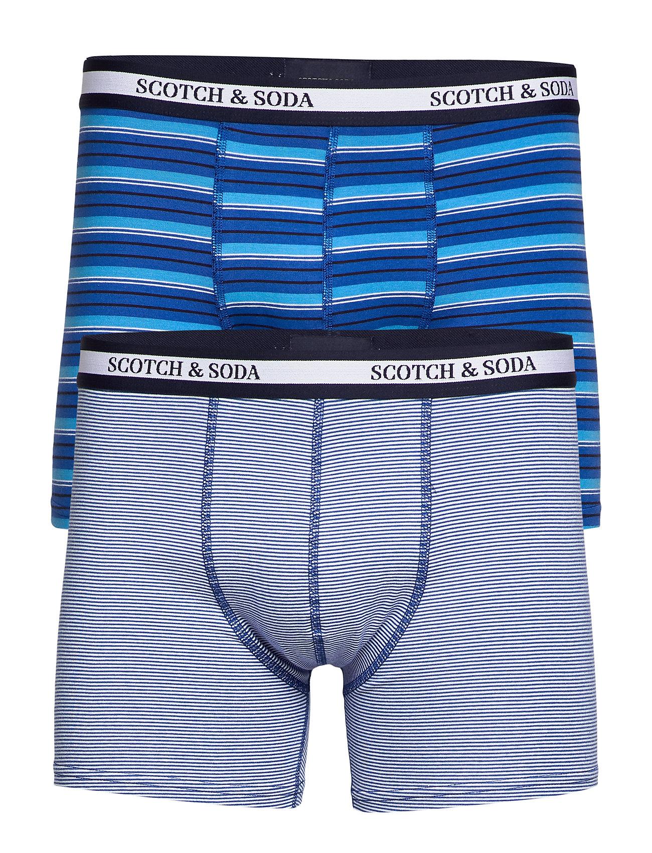 Scotch & Soda Jersey boxer shorts in yarn-dyed stripe - COMBO A