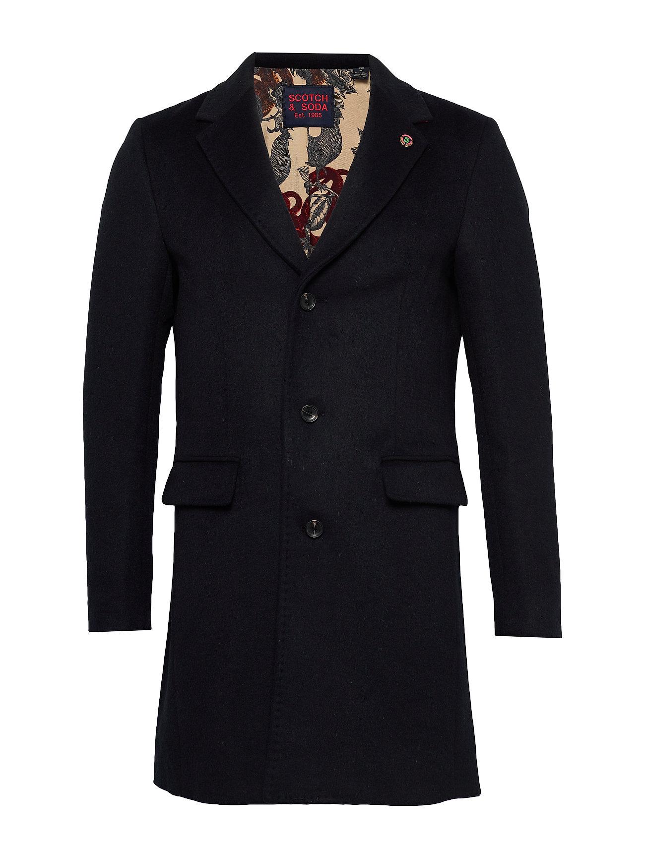 Scotch & Soda Classic single breasted coat - MIDNIGHT