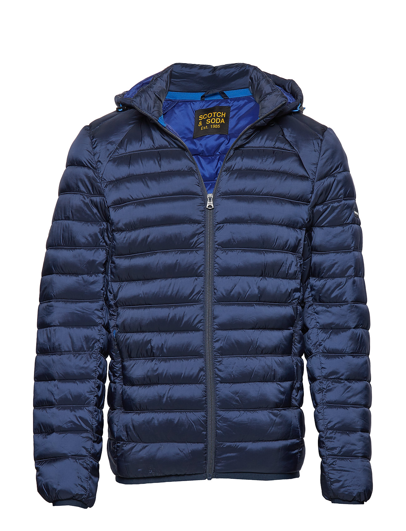 Scotch & Soda Classic hooded light weight padded jacket - NAVY
