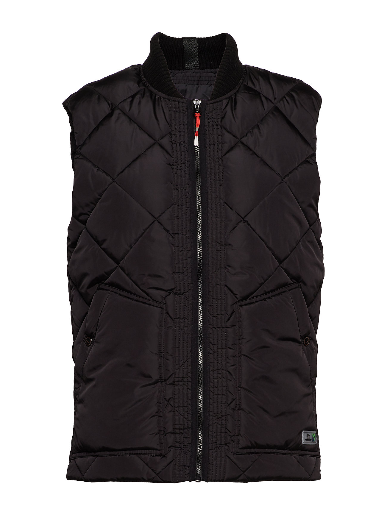 Scotch & Soda Quilted bodywarmer with bomber collar - BLACK