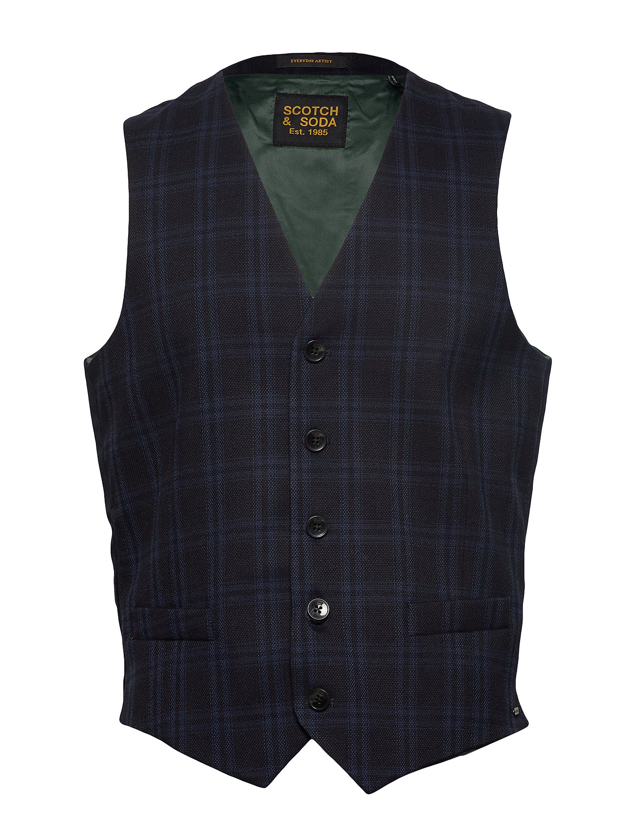 Scotch & Soda Gilet in yarn-dyed structured quality - COMBO A