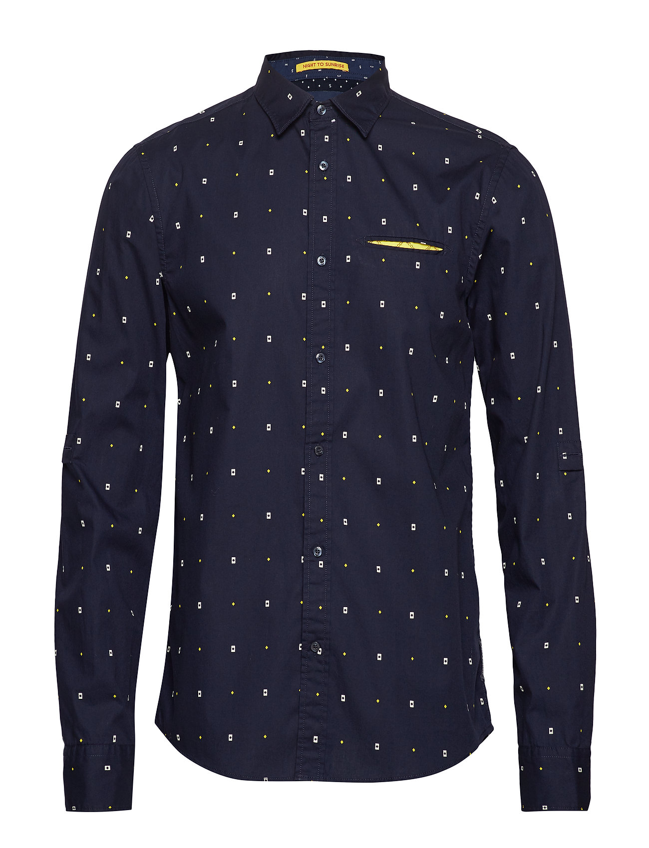 Scotch & Soda REGULAR FIT- Classic all-over printed pochet shirt - COMBO A