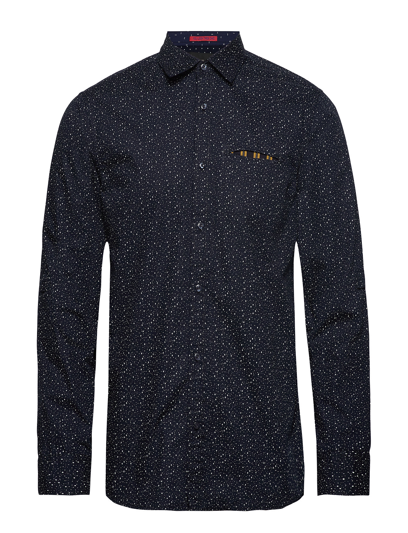 Scotch & Soda REGULAR FIT- Classic all-over printed pochet shirt - COMBO F