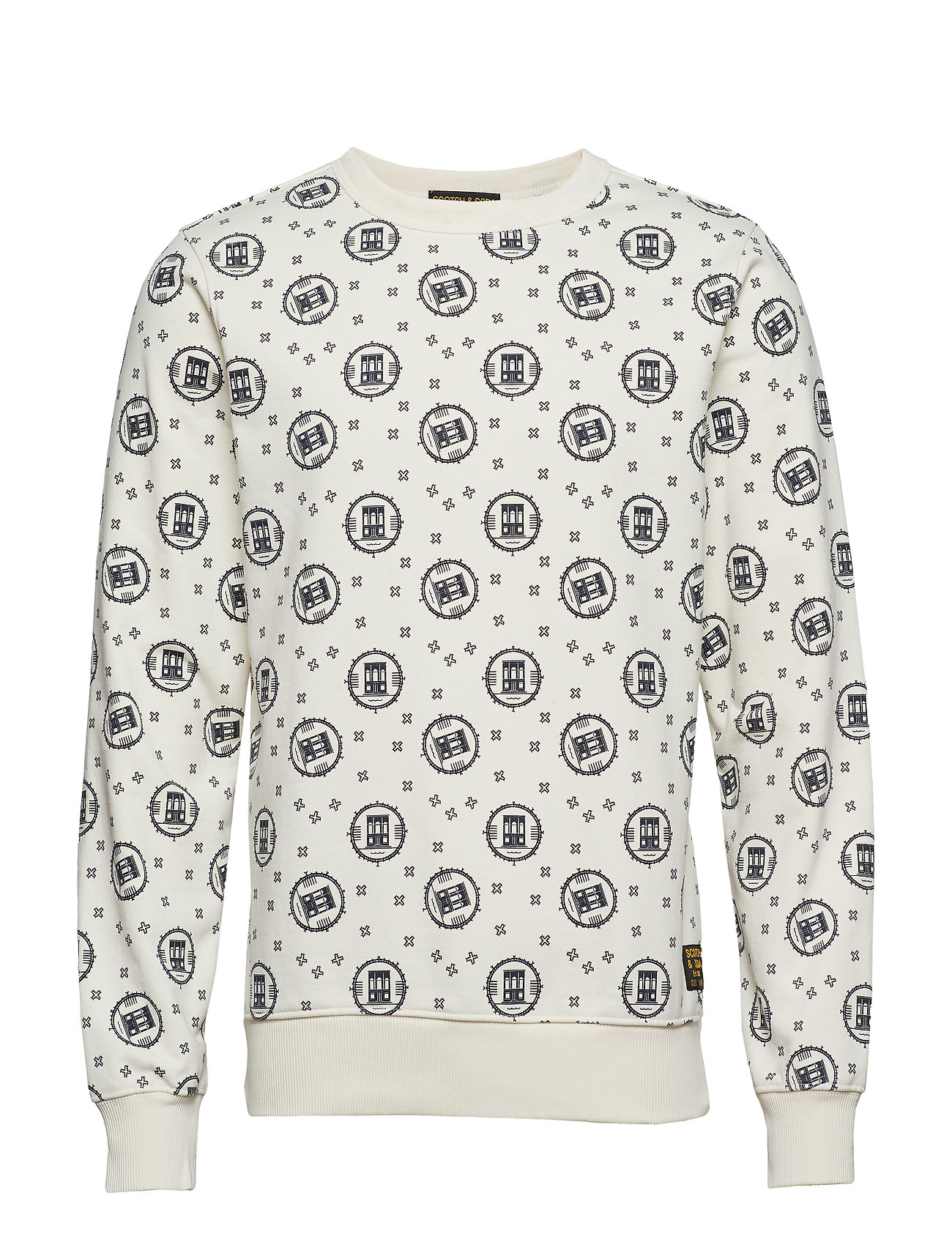 Scotch & Soda Crewneck sweat with logo all-over print - COMBO A