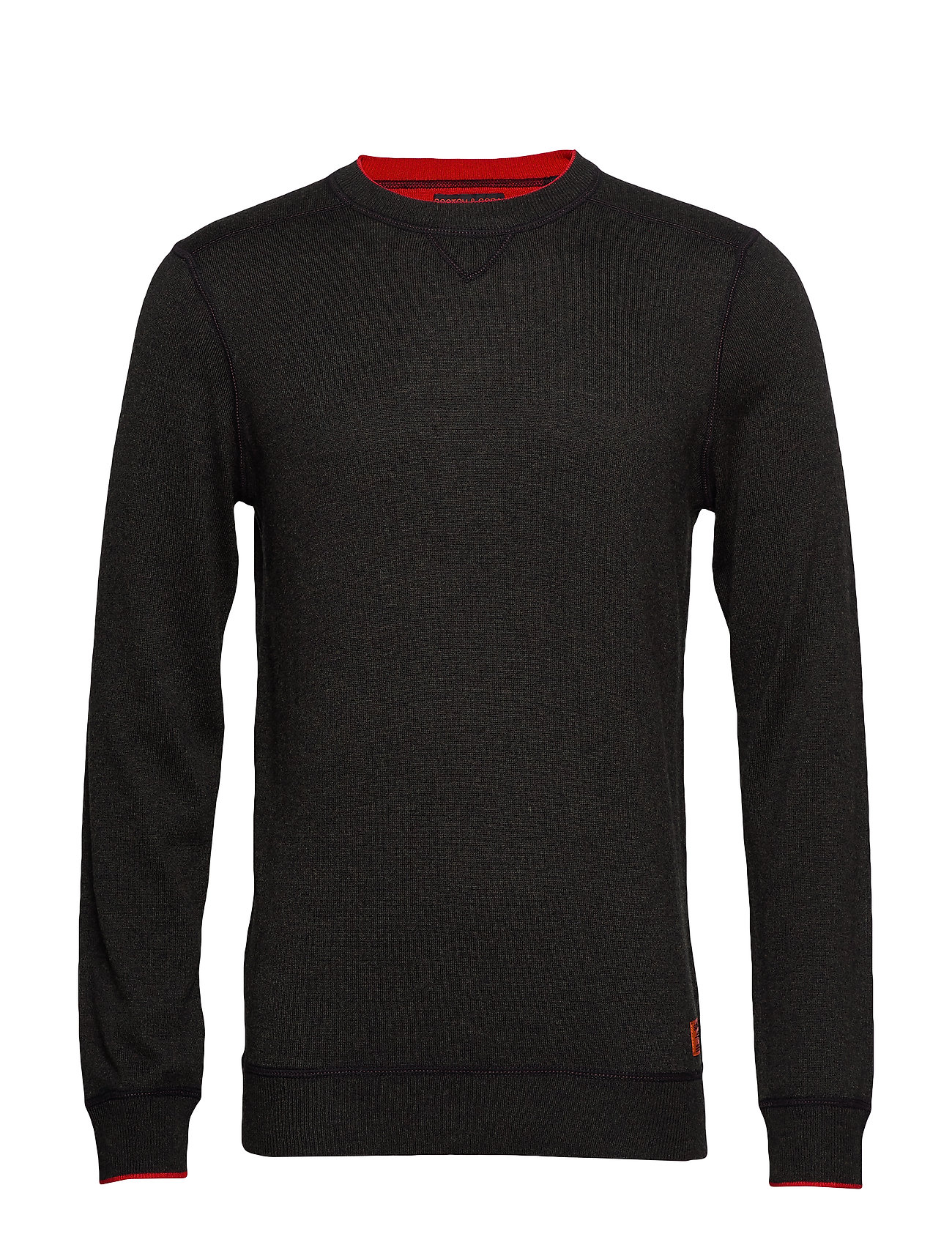 Scotch & Soda Crewneck pull in sweatshirt styling with contrast detail - MILITARY MELANGE