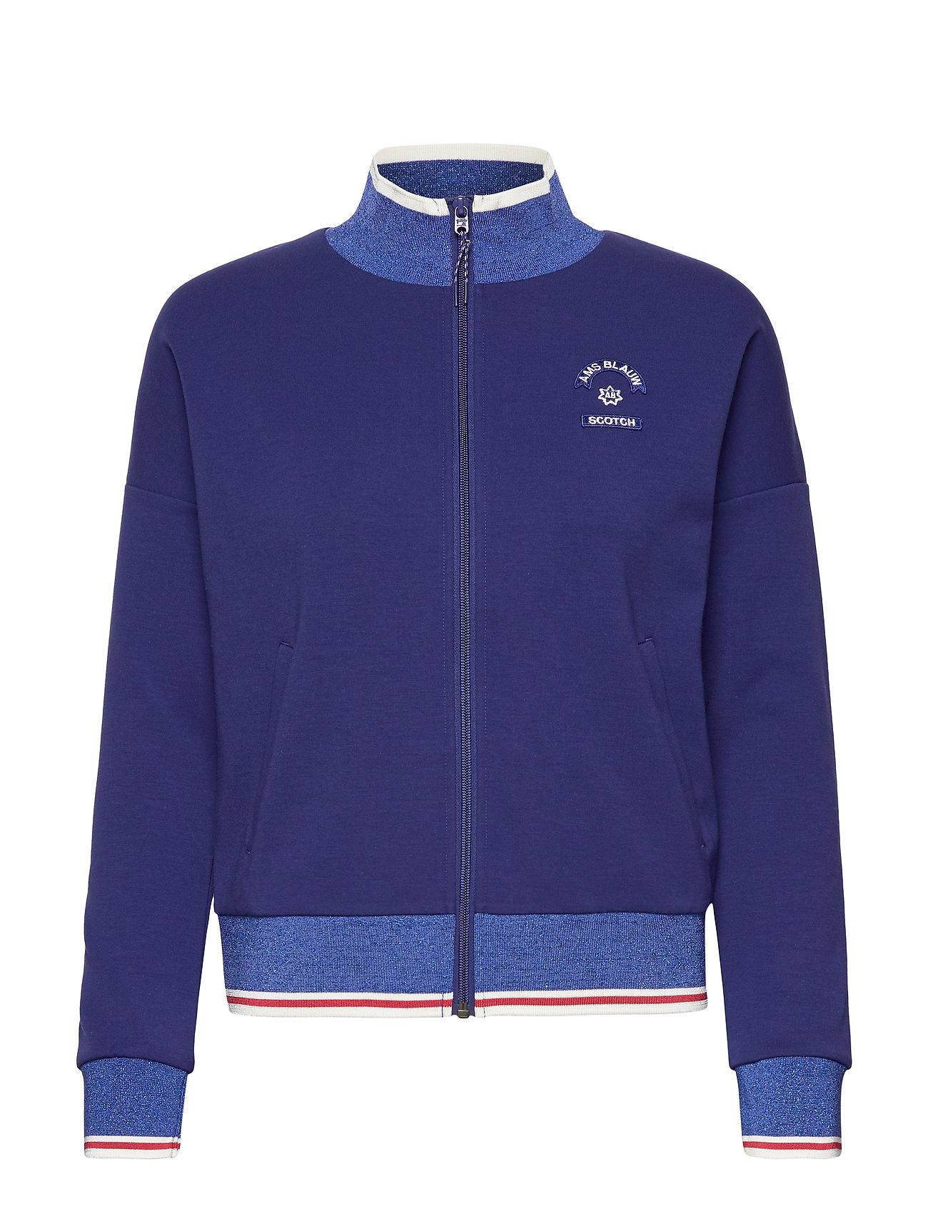 SCOTCH & SODA Sportoberteile | Sporty Jacket In Sweat Quality Sweat-shirt Pullover Blau SCOTCH & SODA