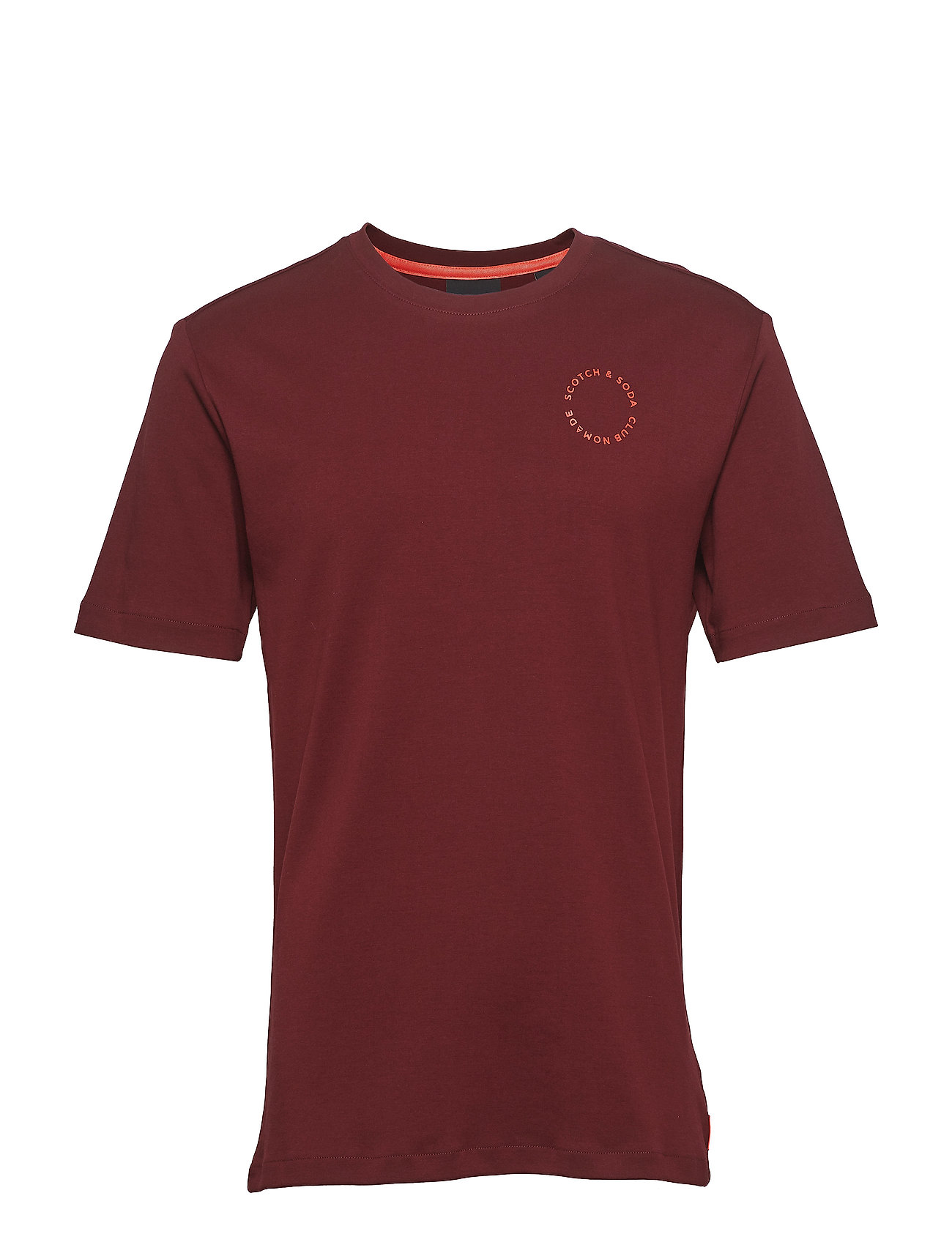 Scotch & Soda Club Nomade s/s tee with logo print - NOMADE RED