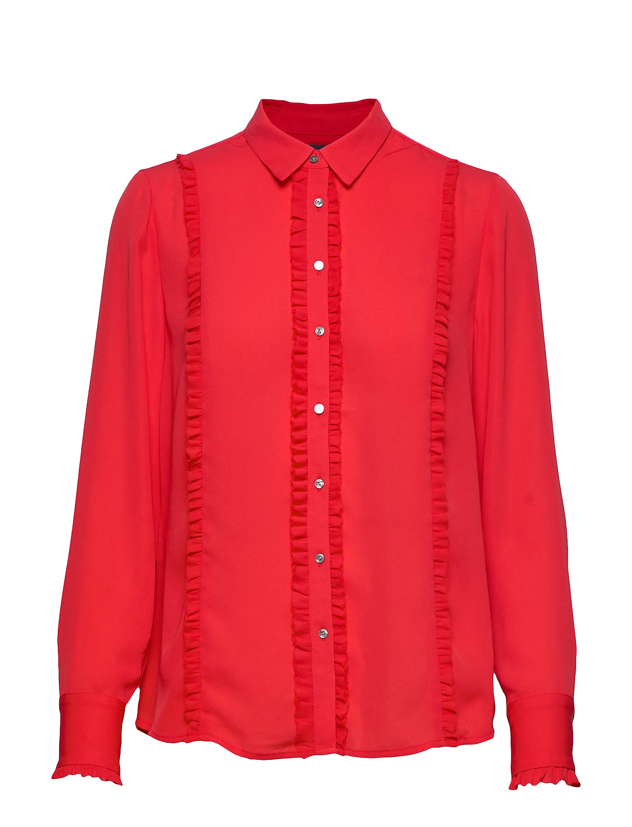 Scotch & Soda Regular fit shirt with ruffles - MARS RED