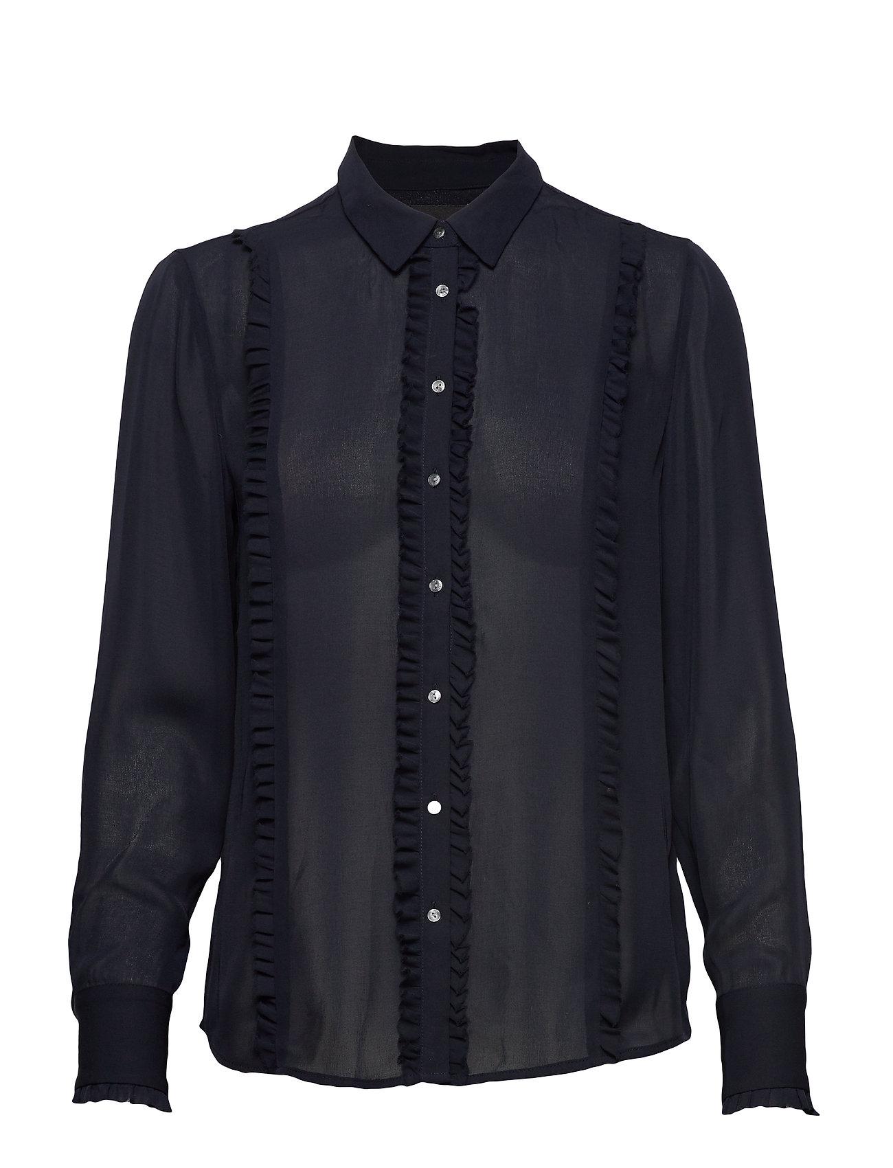 Scotch & Soda Regular fit shirt with ruffles - NIGHT