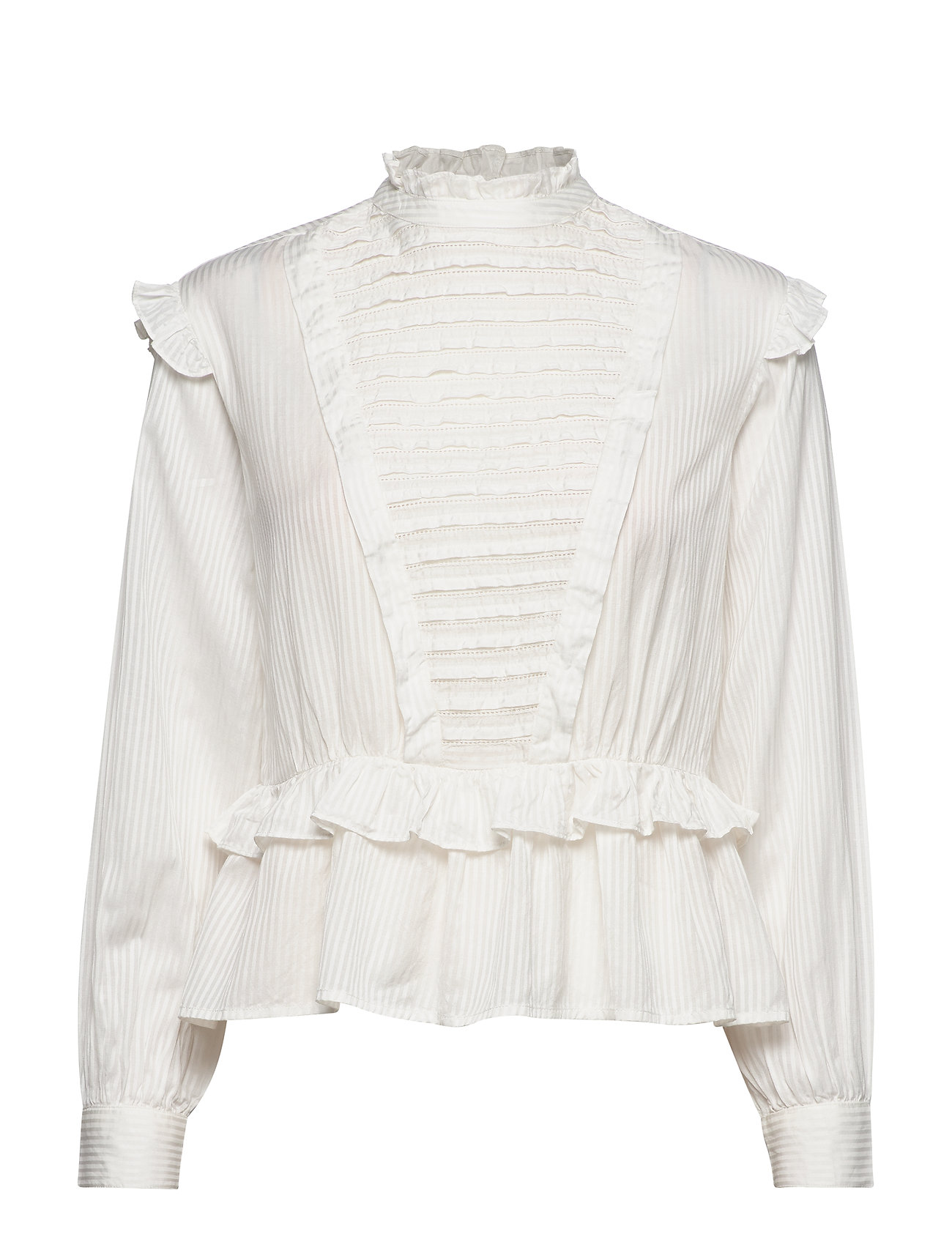 Scotch & Soda Top with ruffles and ladder details - OFF WHITE