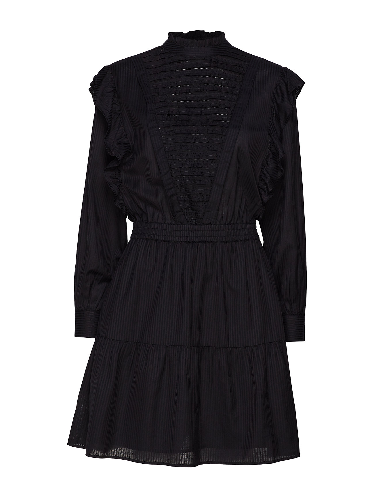 Scotch & Soda Dress with ruffles and ladder details - BLACK