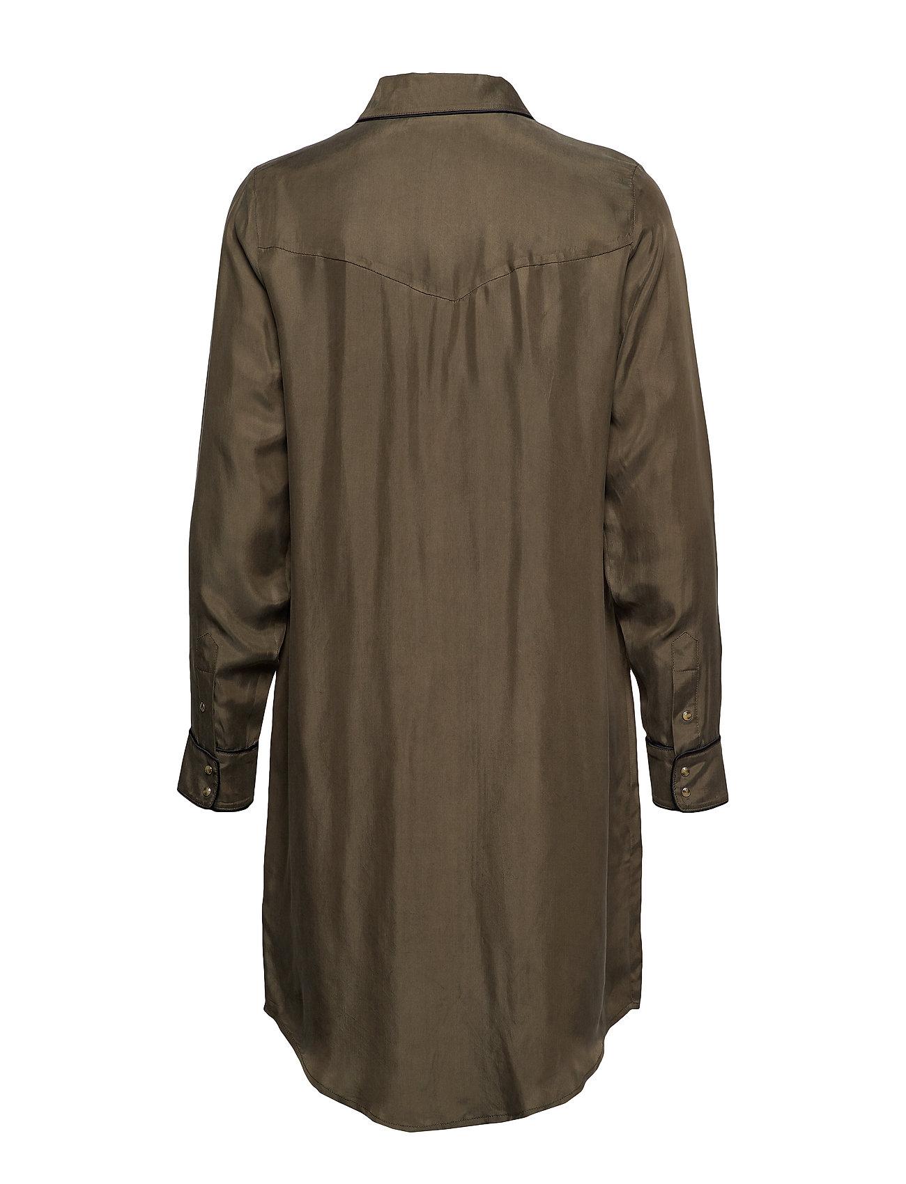SCOTCH & SODA Kleider | Shirt Dress In Cupro Viscose Blend Kleid Knielang Grün SCOTCH & SODA
